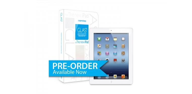 SPIGEN SGP The new iPad 4G LTE / Wifi Screen Protector GLAS.t Premium Tempered Glass Series